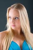 красивейший белокурый портрет девушки способа Стоковое Фото