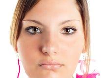 красивейший белокурый портрет девушки Стоковые Изображения
