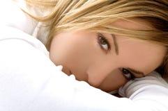 красивейший белокурый портрет девушки Стоковое Изображение RF