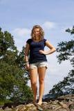 красивейший белокурый усмехаться девушки подростковый Стоковое Фото