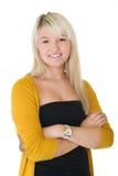 Красивейший белокурый усмехаться женщины Стоковые Изображения RF