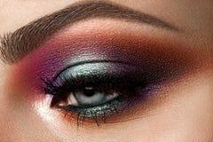 красивейший близкий глаз вверх по womanish Стоковое Изображение