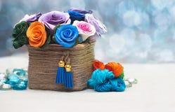 Красивейший букет искусственних цветков Стоковая Фотография RF