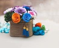 Красивейший букет искусственних цветков Стоковое Изображение RF
