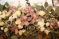 Красивейший букет орхидеи стоковое изображение rf
