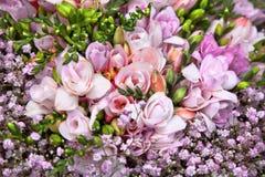 Красивейший букет розовых цветков. Стоковая Фотография