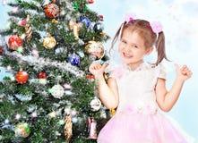 красивейший вал девушки рождества Стоковое Фото