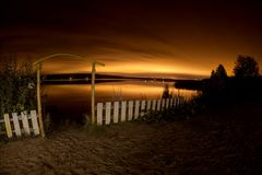 красивейший вектор ночи ландшафта иллюстрации Стоковые Изображения RF
