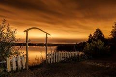 красивейший вектор ночи ландшафта иллюстрации Стоковое фото RF