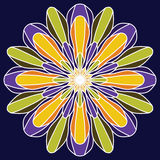красивейший вектор цветка вектор иллюстрации элемента конструкции флористический Винтажный кругом или Стоковое Фото