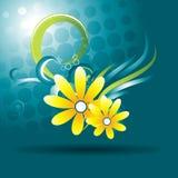 красивейший вектор цветка Стоковые Изображения RF