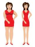красивейший вес потери девушки Стоковые Фото