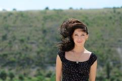 красивейший ветер девушки Стоковое Изображение RF