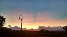 красивейший вечер Стоковые Изображения RF