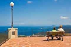 красивейший взгляд Италии острова elba стоковые фотографии rf