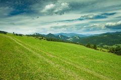 Красивейший взгляд к ландшафту Slovak, национальному парку Pieniny Стоковая Фотография