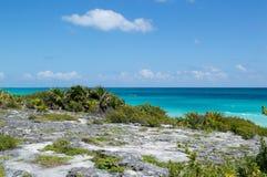 красивейший взгляд моря Мексика Стоковое Изображение