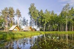 красивейший взгляд природы домов Стоковая Фотография