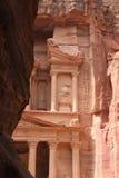 красивейший взгляд сокровища petra стоковое изображение rf