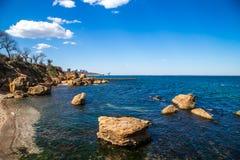 Красивейший взгляд моря Стоковая Фотография