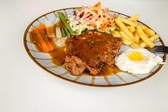 красивейший вкусный стейк свинины стоковая фотография rf