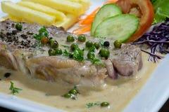 красивейший вкусный стейк свинины Стоковое фото RF