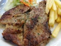 красивейший вкусный стейк свинины Стоковые Фото