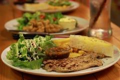 красивейший вкусный стейк свинины Стоковое Изображение