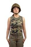 красивейший воин девушки Стоковая Фотография