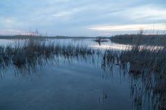 красивейший восход солнца озера Стоковое Изображение RF
