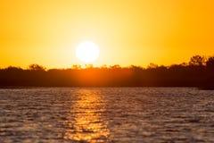 красивейший восход солнца озера Стоковая Фотография RF