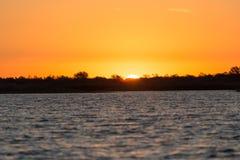 красивейший восход солнца озера Стоковое Изображение