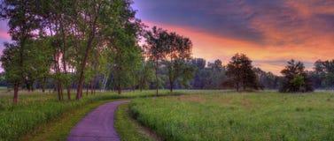красивейший восход солнца парка Стоковые Изображения RF