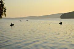 красивейший восход солнца реки раннего утра стоковые изображения