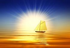 красивейший восход солнца иллюстрация вектора