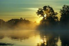 красивейший восход солнца реки раннего утра Стоковые Фотографии RF