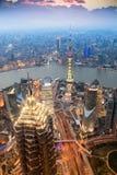 красивейший выравниваясь shanghai Стоковая Фотография