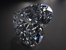 Красивейший голубой диамант Стоковое Фото