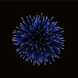 красивейший голубой феиэрверк Яркий фейерверк изолированный на черной предпосылке Свет - голубой фейерверк украшения для рождеств бесплатная иллюстрация