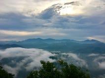 красивейший горный вид Стоковая Фотография