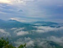 красивейший горный вид Стоковые Фотографии RF
