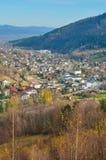 красивейший городок горы стоковое изображение rf
