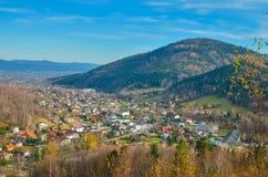 красивейший городок горы стоковые фото