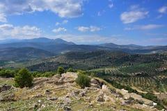 красивейший греческий ландшафт стоковое фото rf