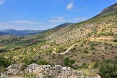 красивейший греческий ландшафт стоковые изображения rf