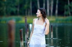 красивейший девушки портрет outdoors сексуальный Стоковые Изображения RF