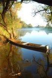 красивейший желтый цвет реки шлюпки Стоковые Изображения