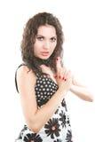 красивейший женский модельный портрет Стоковая Фотография