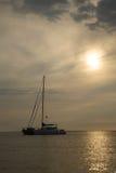красивейший заход солнца Гавайских островов Стоковые Изображения RF