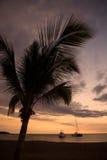 красивейший заход солнца Гавайских островов Стоковая Фотография RF